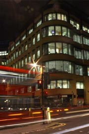 Broad Street at night